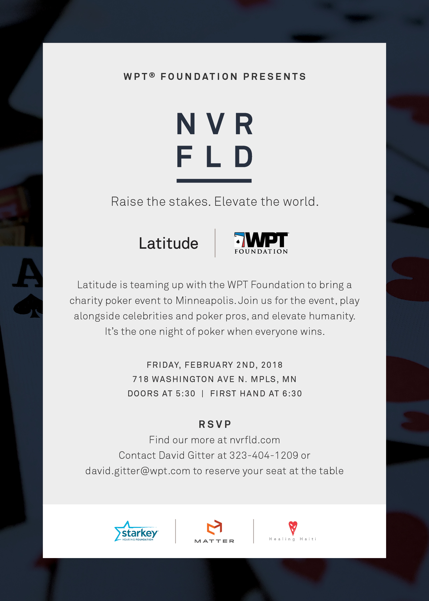WPT Foundation Presents NVRFLD